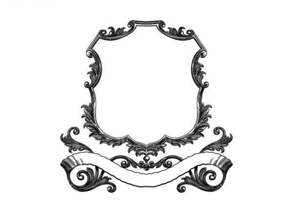 600x436 Dapinographics Vintage Scroll Frame With Banner