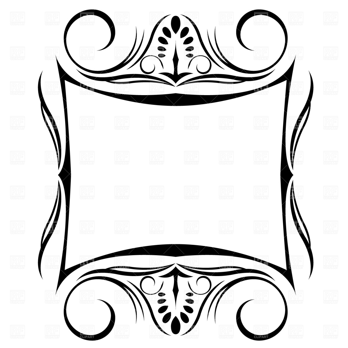 1200x1200 Decorative Frame Royalty Free Vector Clip Art Image