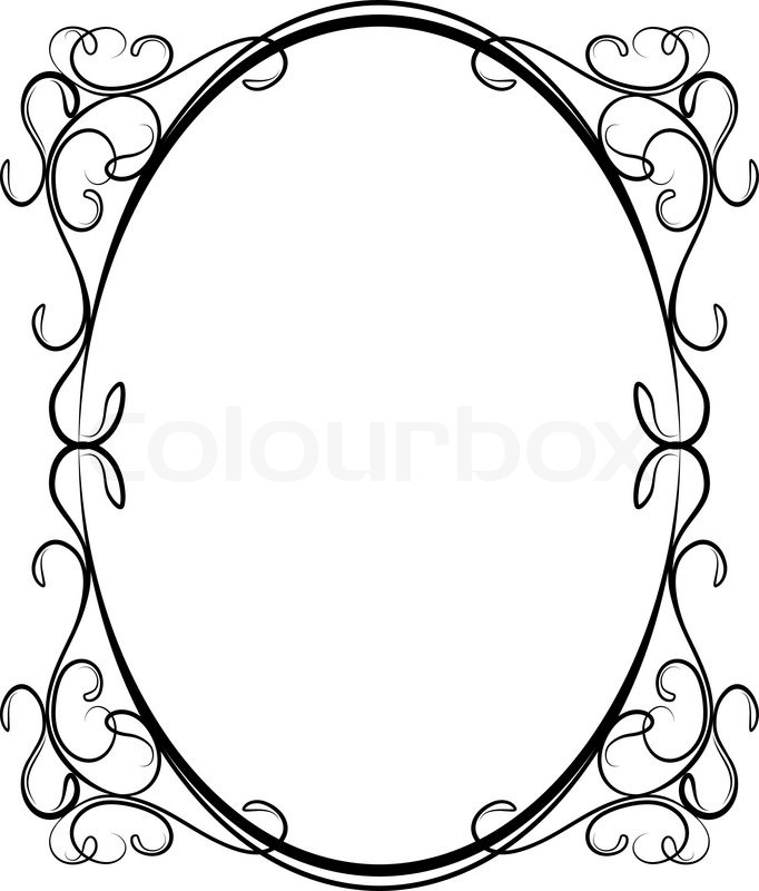 682x800 Oval Filigree Frame Clip Art
