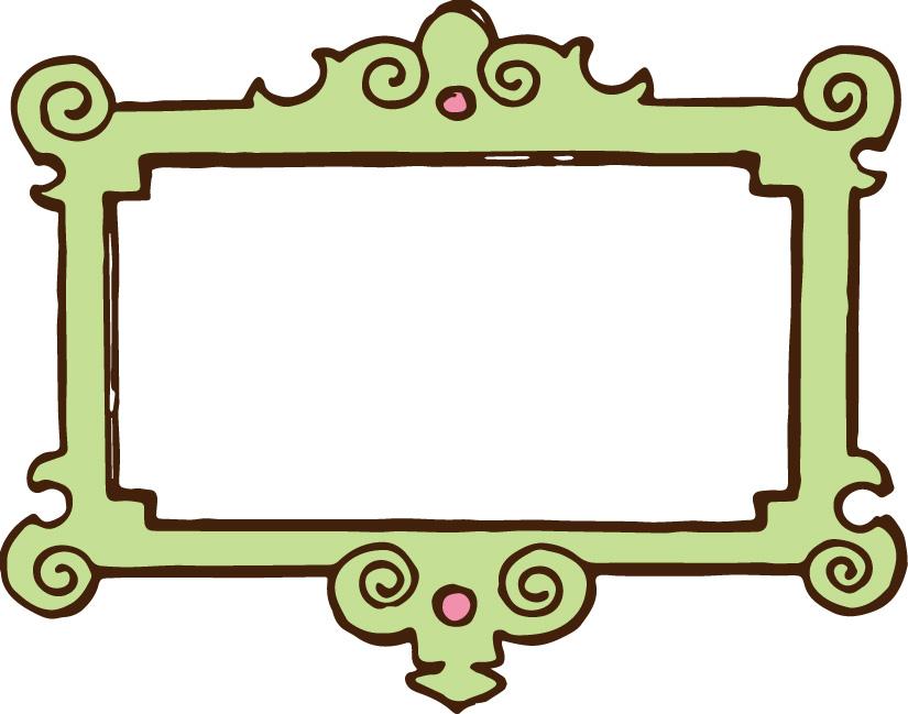 825x649 Pink Scroll Frame Clip Art Clipart Panda
