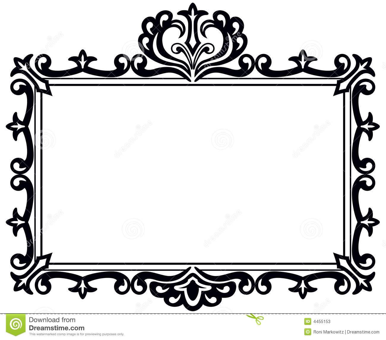 1300x1146 Black Frame Clipart
