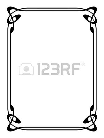 338x450 Vector Simple Calligraph Ornamental Decorative Frame Pattern