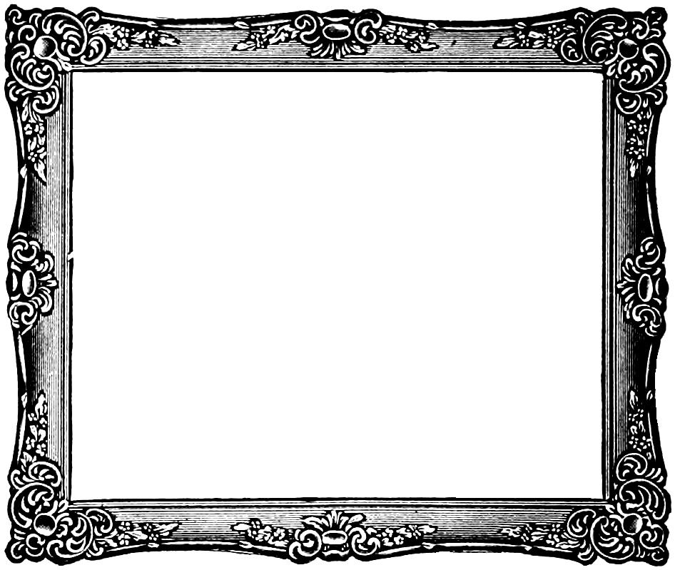 946x799 Vintage Frame Clipart
