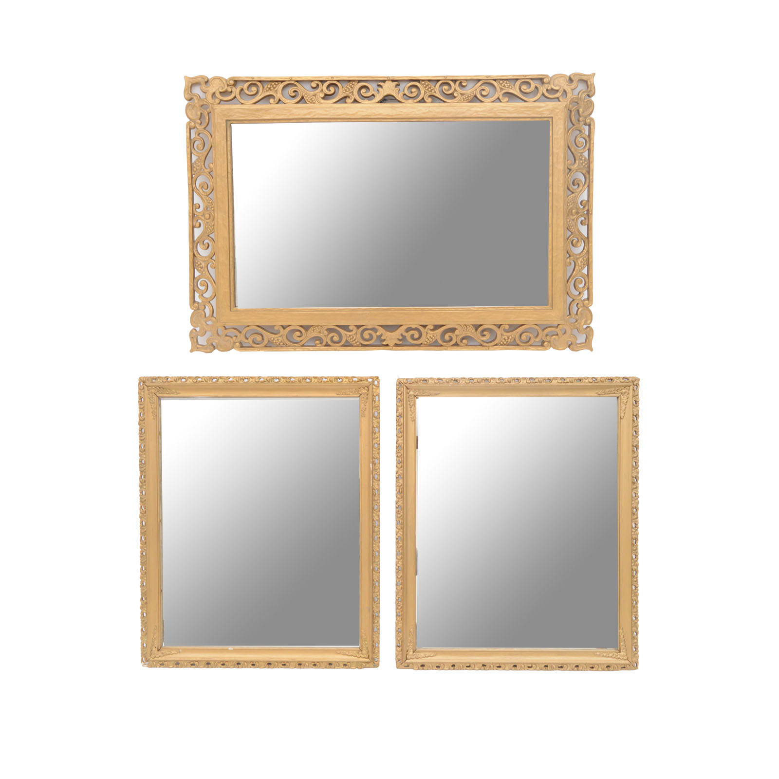 1600x1600 Vintage Mirrors With Scroll Frames Ebth