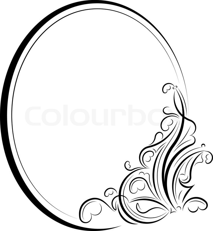 737x800 Oval Frame Stock Vector Colourbox
