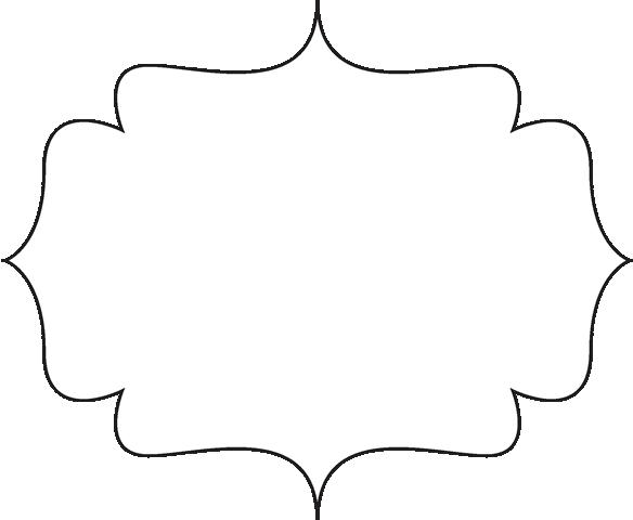 584x480 Black Scroll Border Clipart