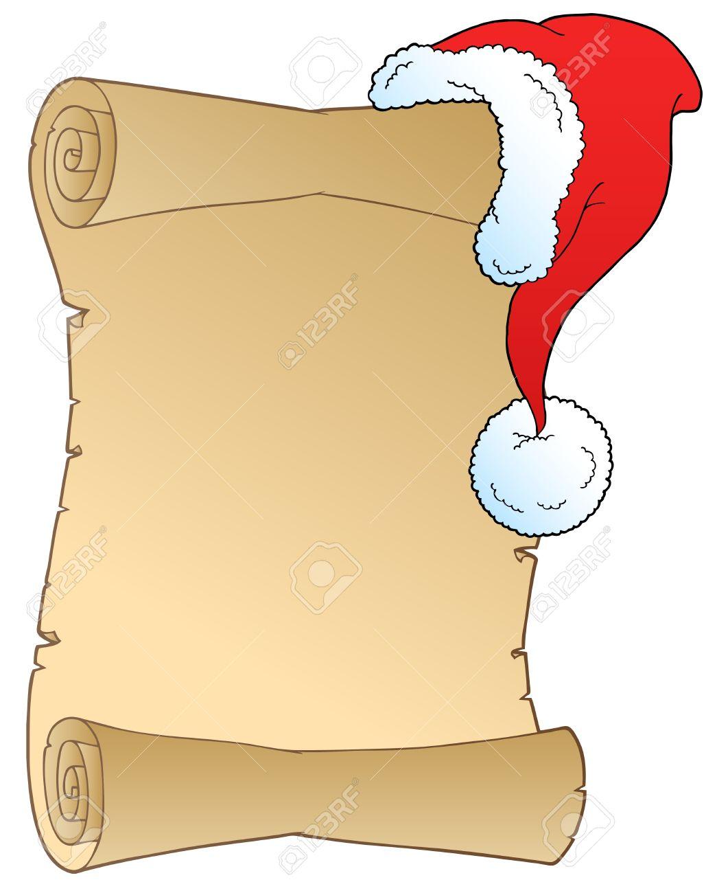 1045x1300 Santa Wish List Clipart