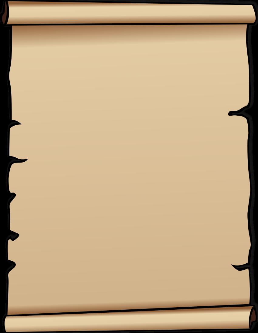 850x1100 Scroll Clip Art