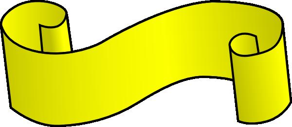 600x262 Yellow Scroll Clip Art Free Vector 4vector