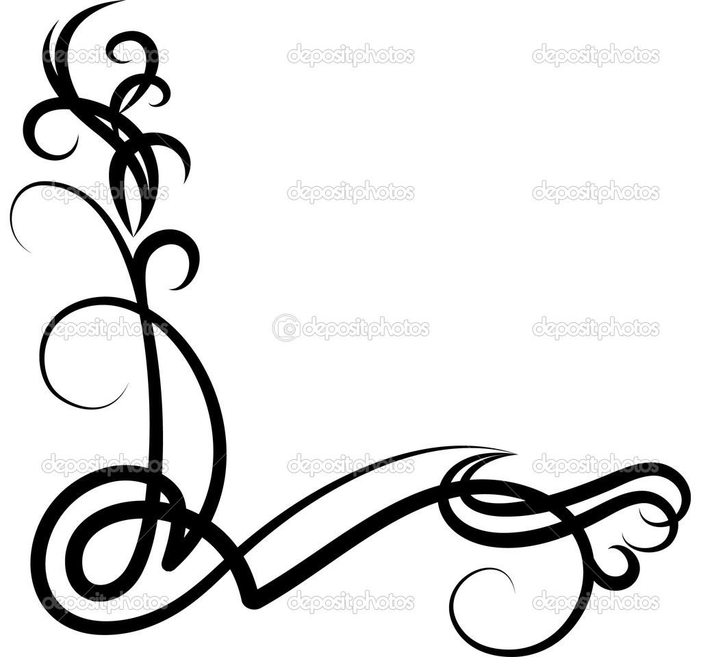 1024x960 Corner Scroll Clip Art