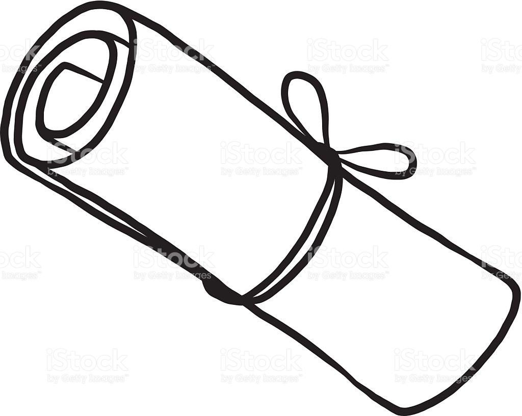 1024x816 Drawn Scroll Paper Clip Art