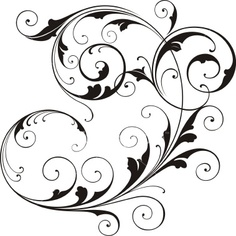 236x236 Clipart Scroll Work