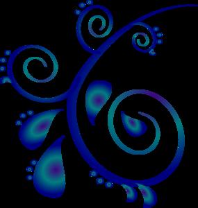 285x300 Blue Flower Clipart Blue Scroll
