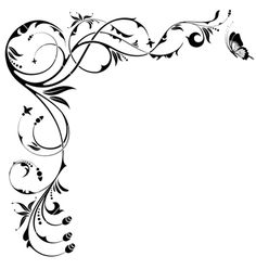 236x248 A Selection Of Scroll Parts And A Panel Design For Text To Be
