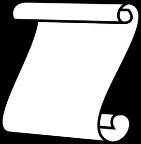 292x297 Scroll, White Background Clip Art
