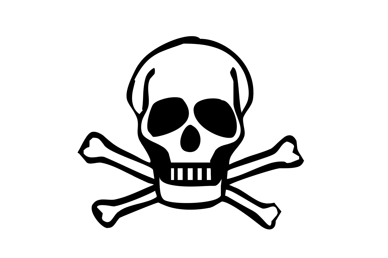 3000x2000 Danger Clipart Simple Skull