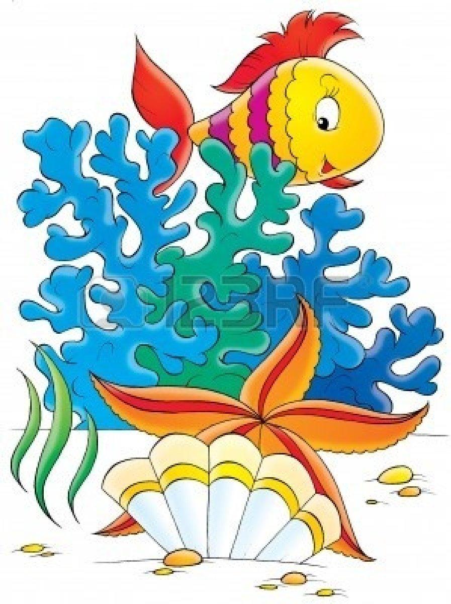 897x1200 Sea Clipart Coral Reef Fish
