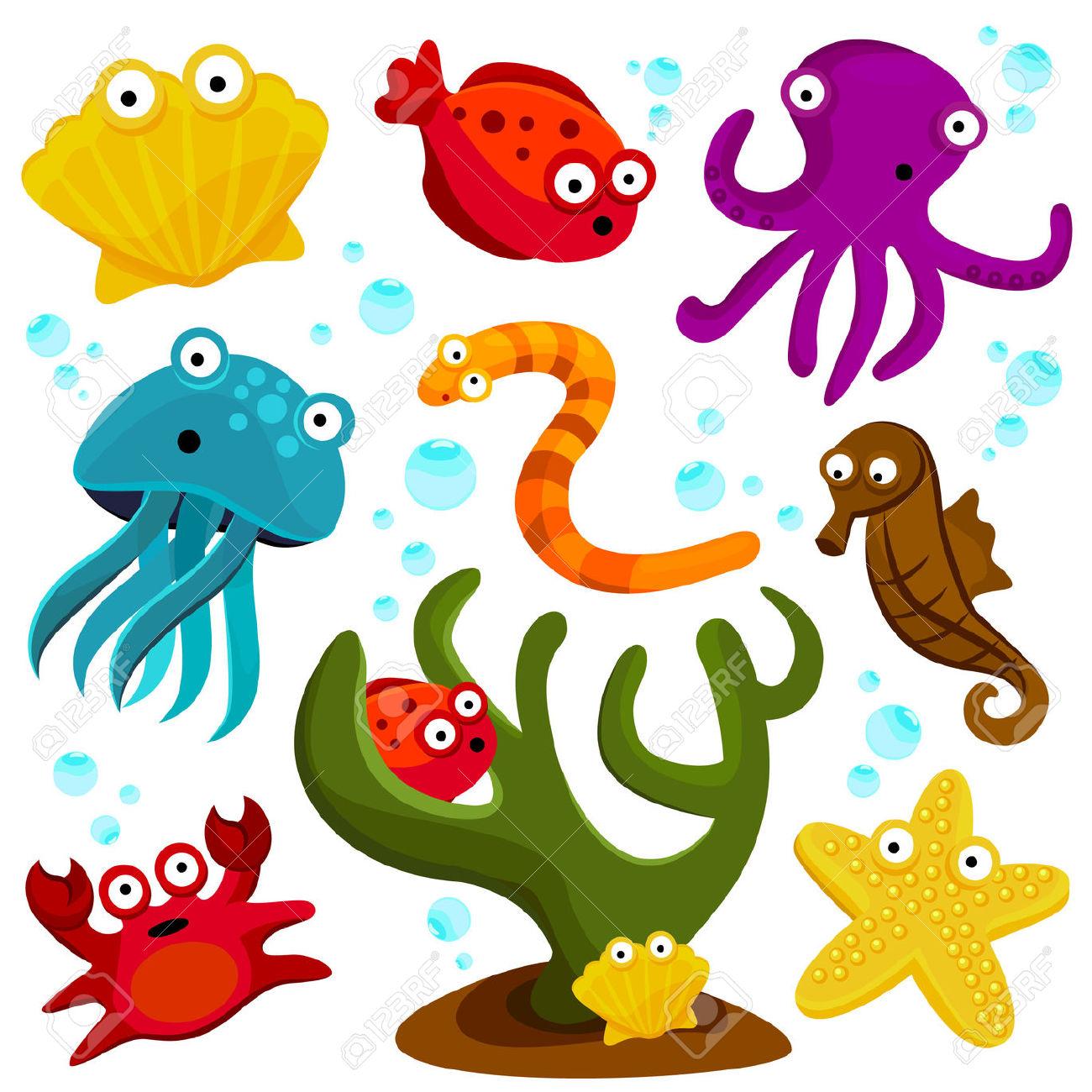 1300x1300 Clip Art Sea Animals Clip Art