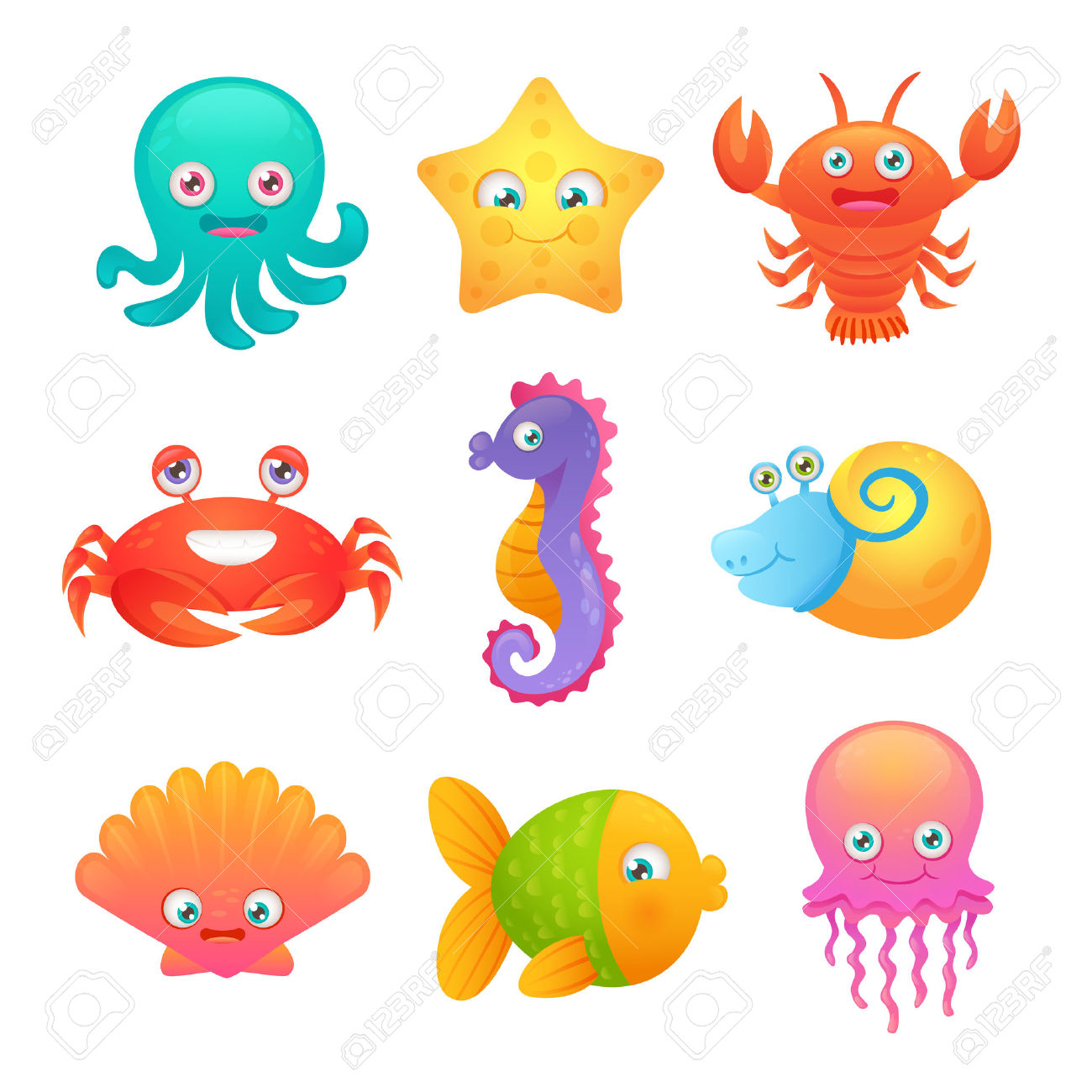1300x1300 Octopus Jellyfish Clipart, Explore Pictures