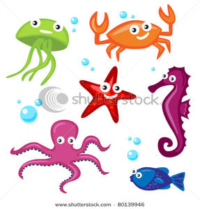 287x300 Sea Creatures And Bubbles