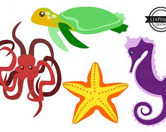 340x270 50%offsale Sea Animal Clipartsea Animals Clipartsea
