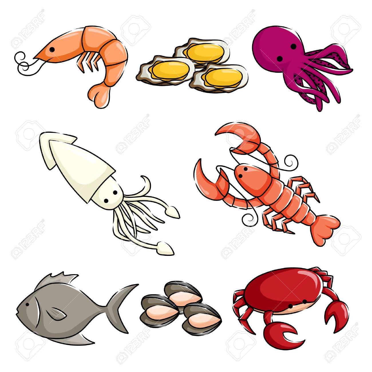 1300x1300 Seafood Clipart Sea Creature