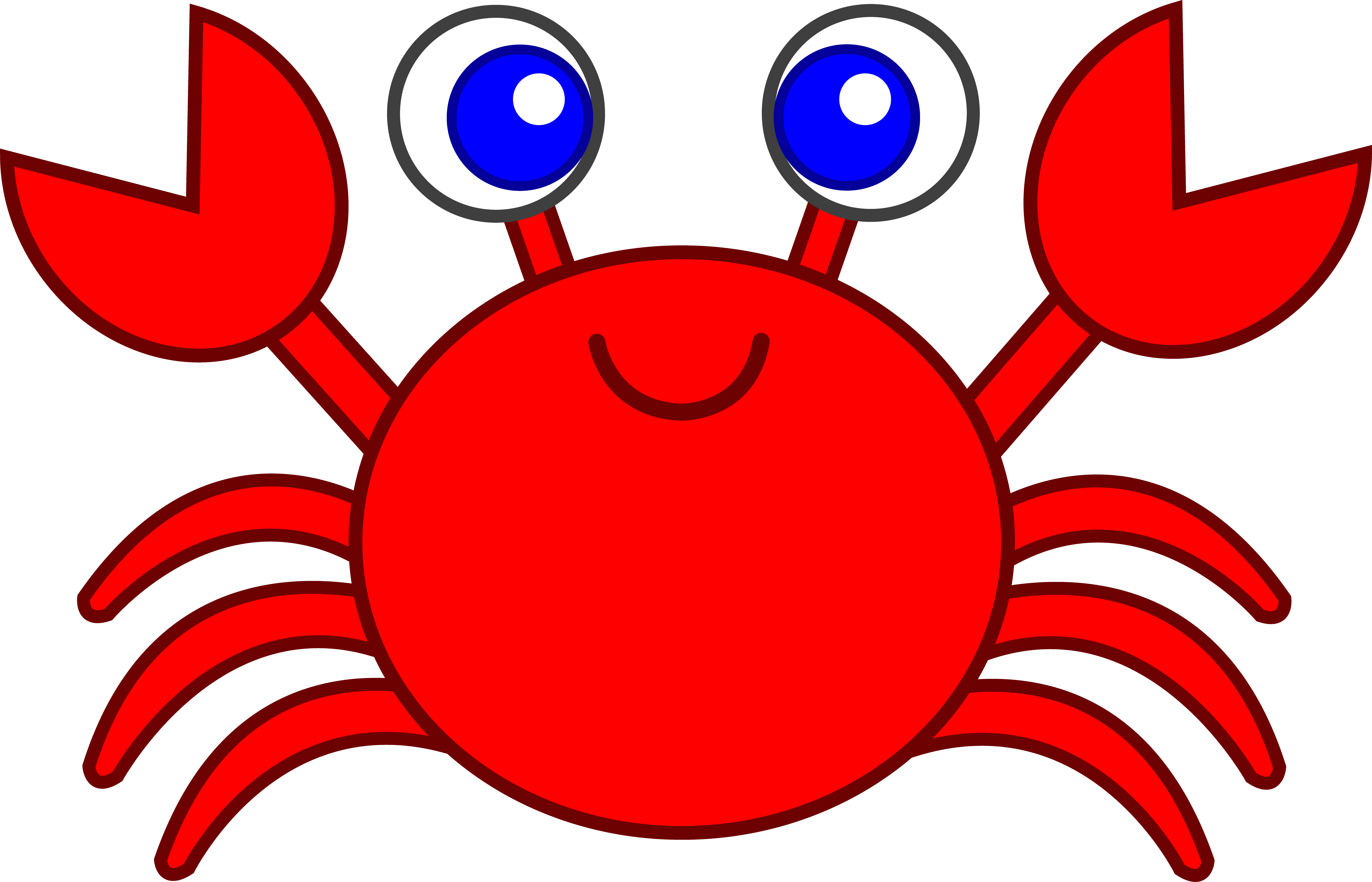 7031x4522 Crab Black And White Crab Clip Art Black And White Free Clipart