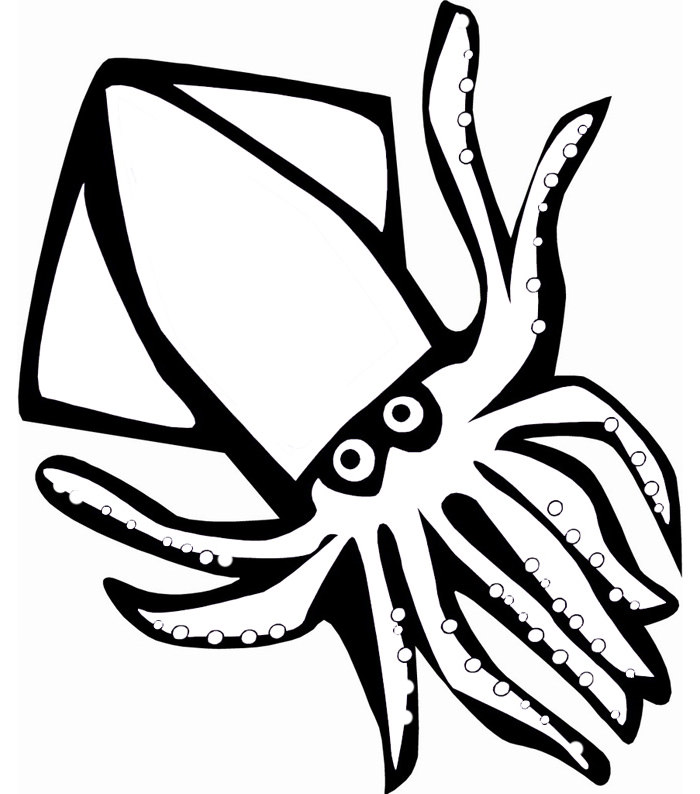Sea Creatures Clipart Black And White | Free download on ...