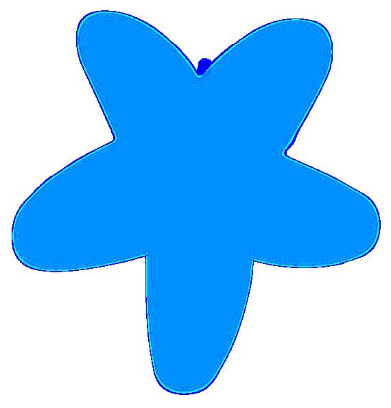 570x595 Blue Starfish Clip Art