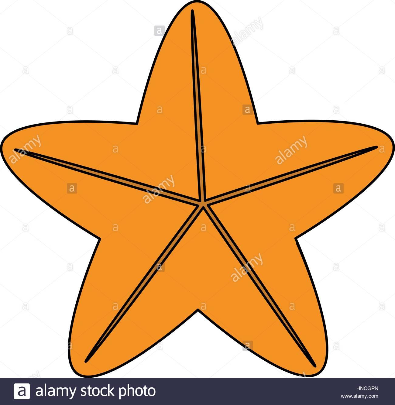 1300x1333 Sea Star Icon Over White Background. Vector Illustration Stock