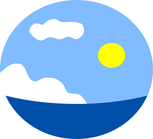 600x545 Land And Sea Clipart