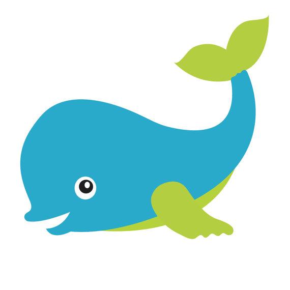 570x570 Big Blue Whale Under The Sea Clipart