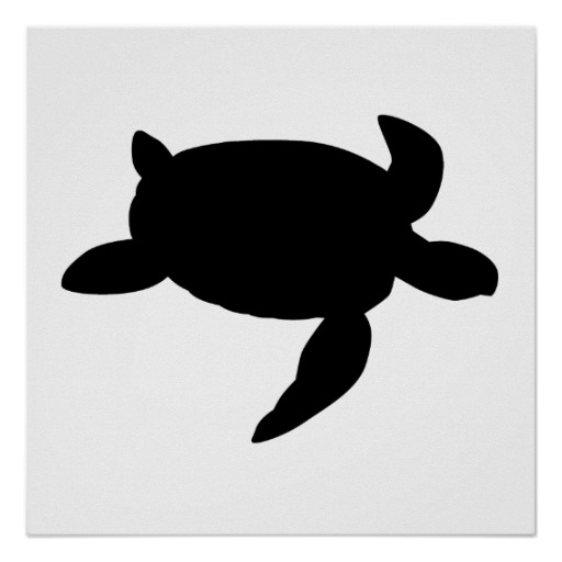Sea Turtle Silhouette   Free download on ClipArtMag