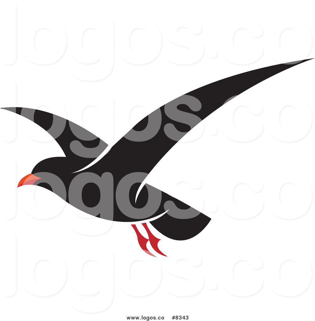 1024x1044 Royalty Free Vector Of A Flying Black Seagull Logo By Lal Perera
