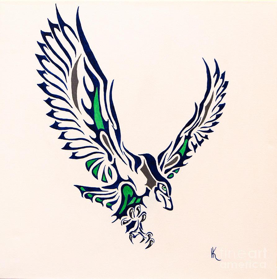 893x900 Seahawk Painting By Kimatha Kesner