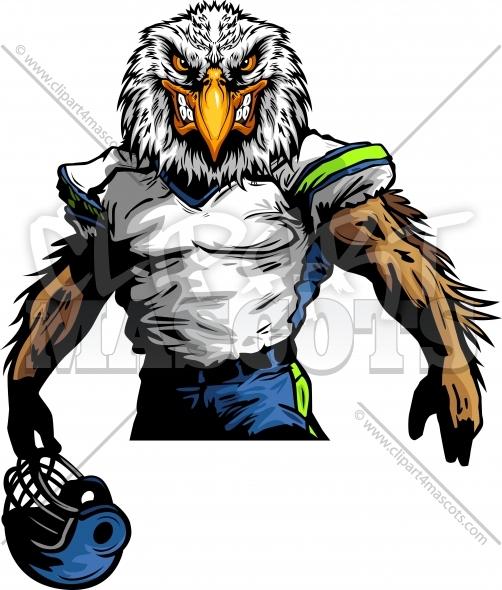 502x590 Seahawks Football Clipart Graphic Vector Cartoon