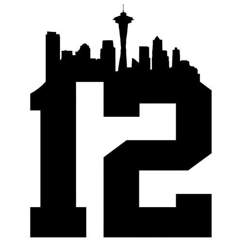 500x500 Seattle Clipart Seattle Skyline Silhouette Seahawks