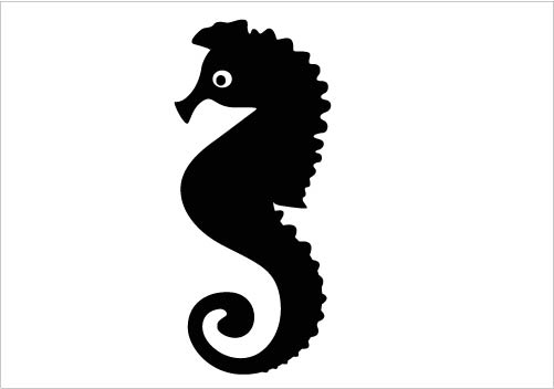 501x352 Sea Horse Silhouette Vector Awesome Seahorse Silhouette Silhouette