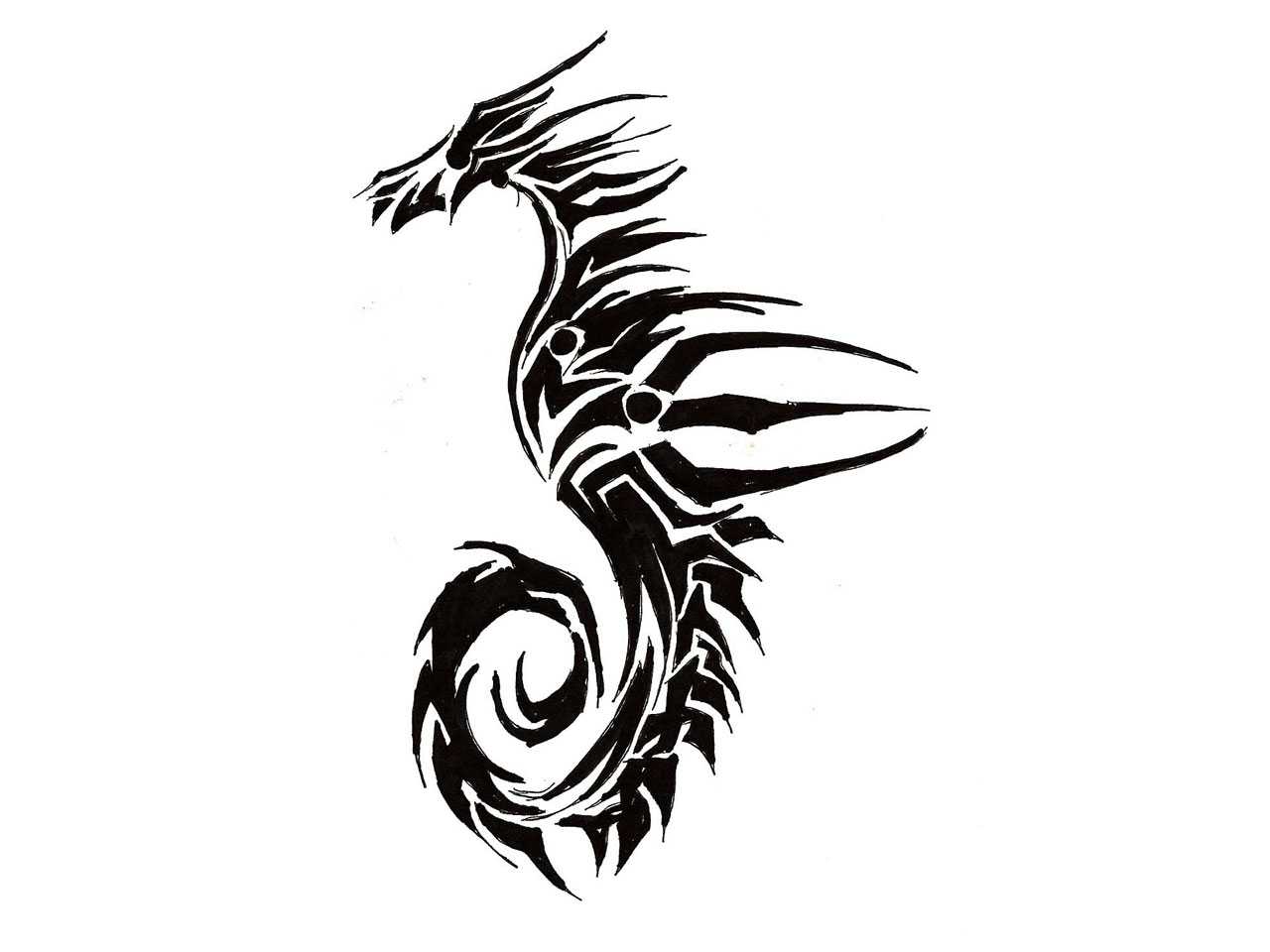 1280x960 Sea Creature Sea Horse Tattoo Designs And Pictures