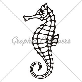 325x325 Seahorse Tribal Icon Gl Stock Images