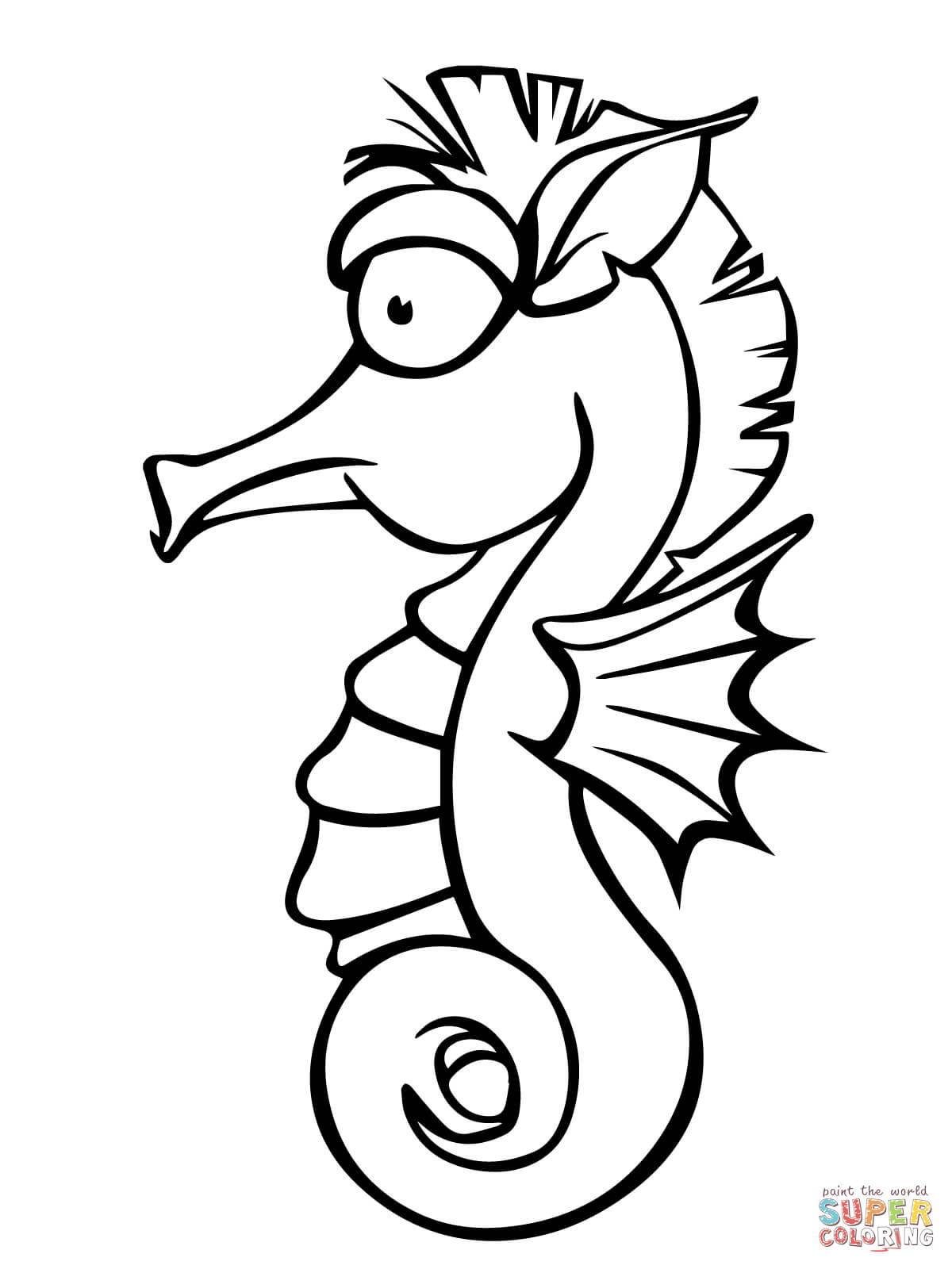 1200x1600 Seahorse Coloring Pages Free Coloring Pages