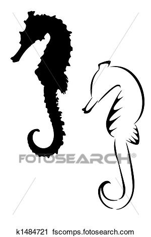 300x470 Clipart Of Seahorse K1484721