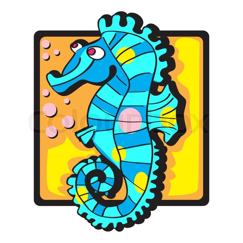 800x800 Seahorse Clip Art Stock Vector Colourbox