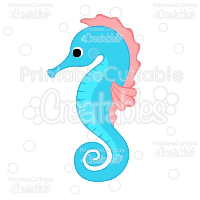 650x650 Seahorse clipart cute