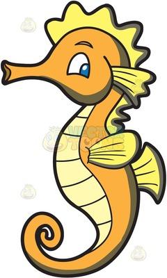 240x400 seahorse Clipart