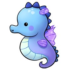 220x220 Creature clipart seahorse