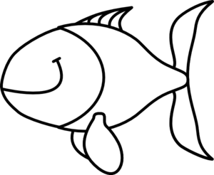 300x246 Fish, Black And White Clip Art