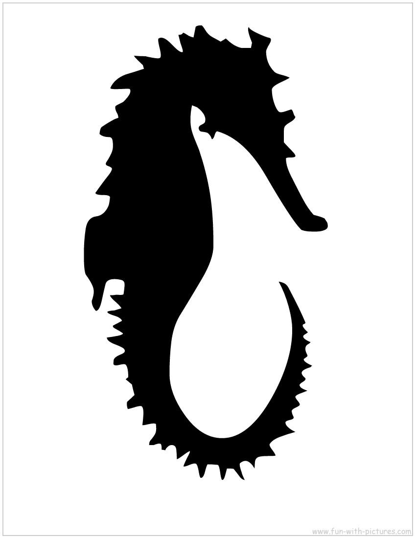 850x1100 Image Of Sea Horse Clip Art