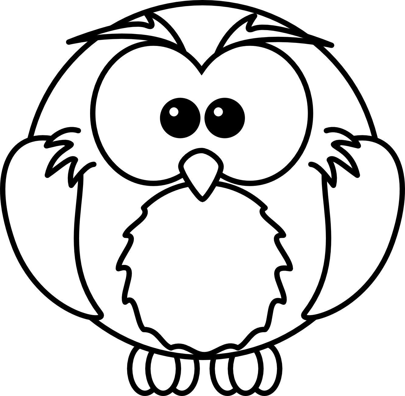 1331x1302 Animal Clipart Black And White