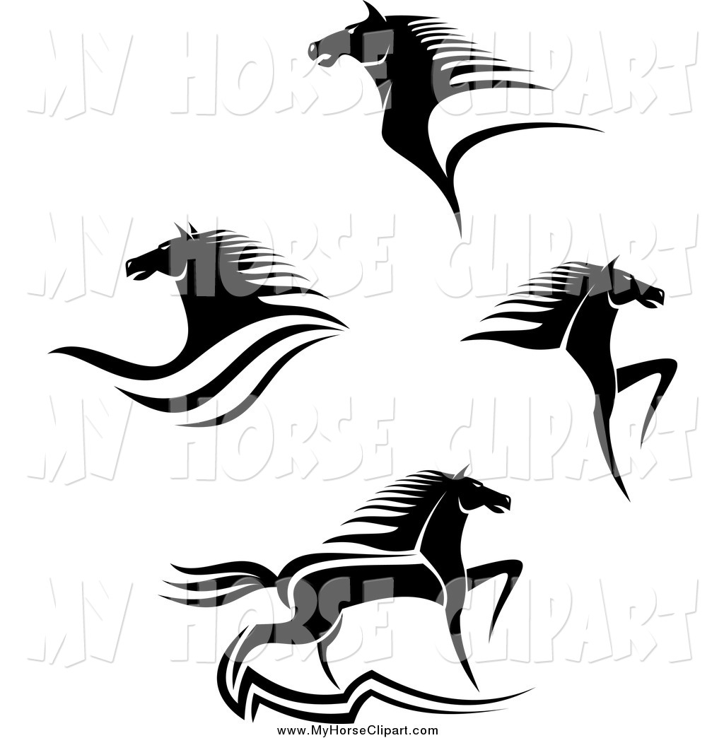1024x1044 Black And White Horse Logos